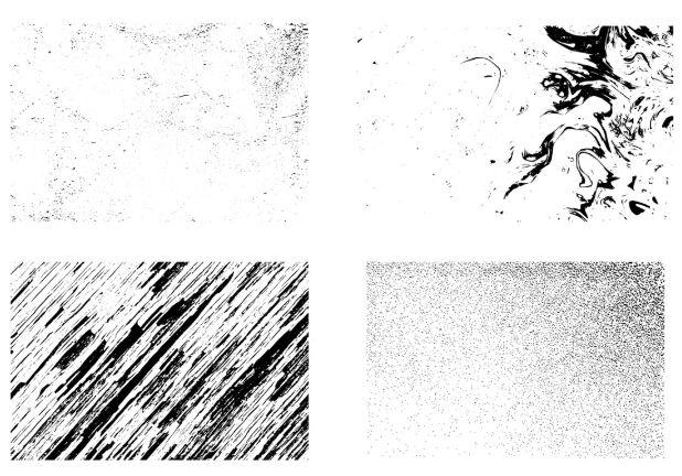 10 Vector Fine Grunge Textures