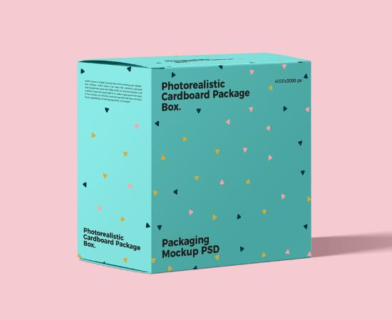 Free 40+ Best Packaging Mockups Free Photorealistic Cardboard Package Box Mockup PSD