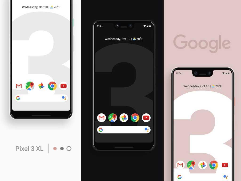 New Google Pixel 3 XL PSD Mockup