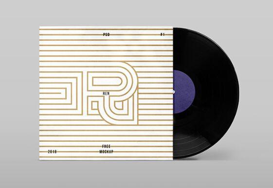 Vinyl Cover Mockup