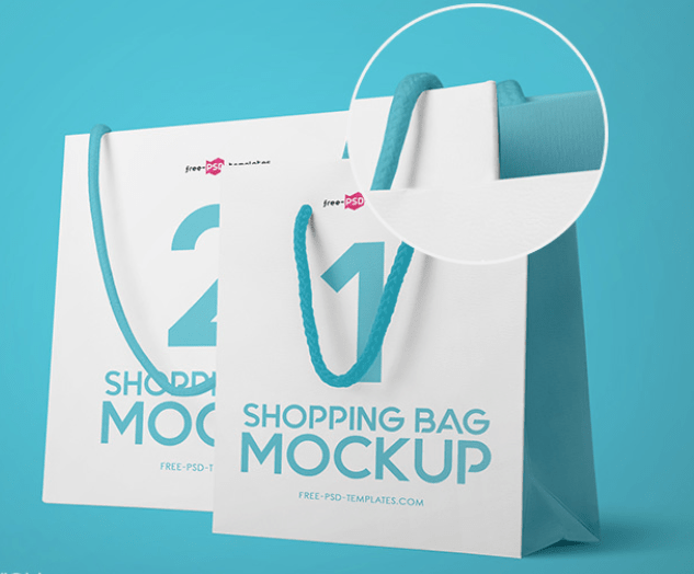 3 FREE SHOPPING BAG MOCK-UPS IN PSD