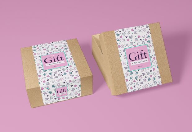 Free 40+ Best Packaging Mockups Free Packaging Craft Paper Gift Box Mockup PSD 2018