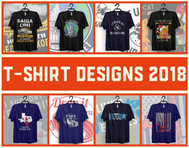 T-shirt Design 2018 & free PSD