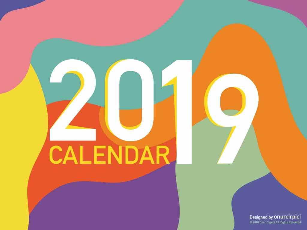 2019 Calendar Free PDF