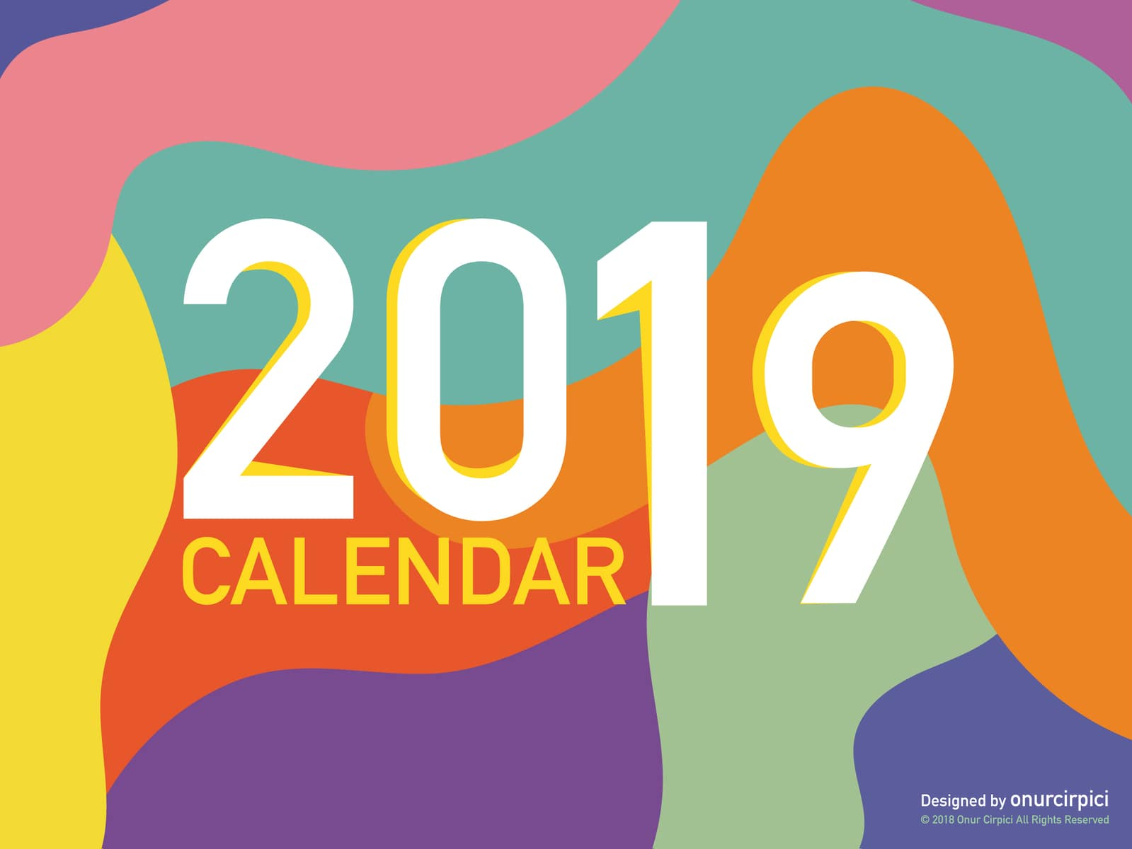 15+ Free Printable 2019 Calendar Templates For Designers