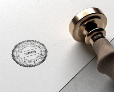 Free PSD Stamp Logo Mockup
