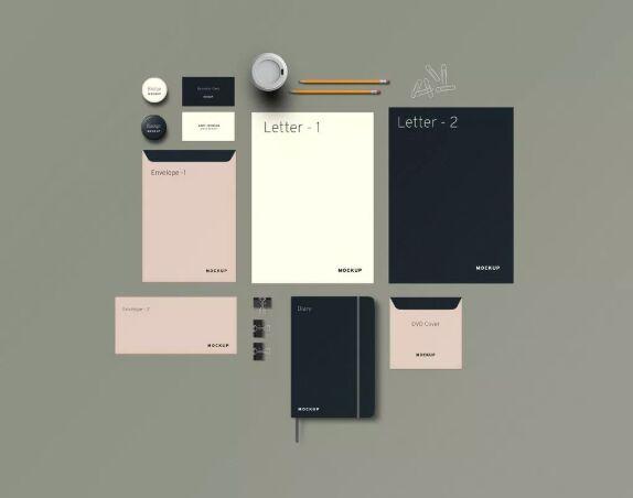Stationery and Branding PSD Mockup