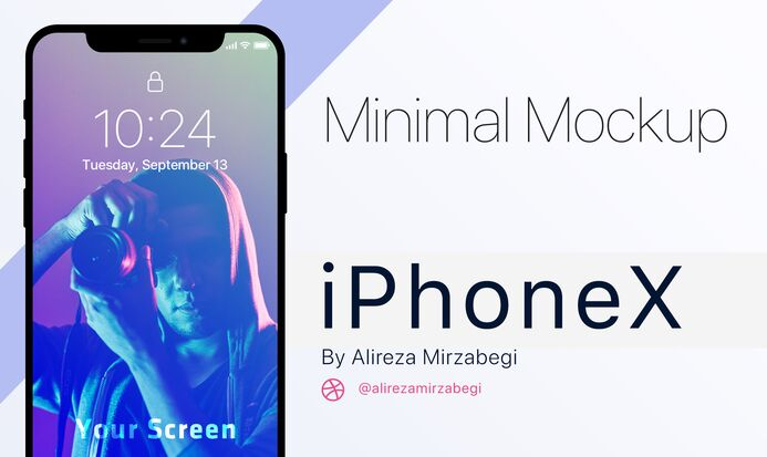 Minimal iPhone X Mockup PSD
