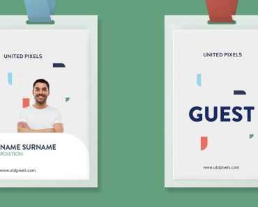 Free Clean ID Card Mockup