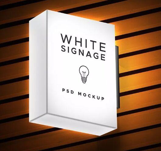 Light Box Display Signage PSD Mockup