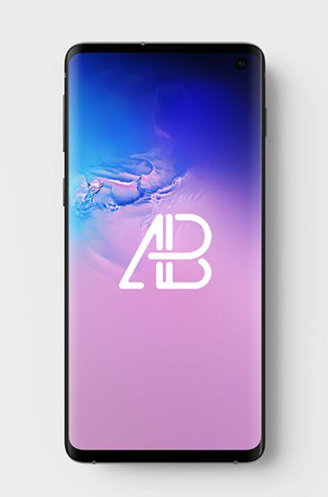 Samsung Galaxy S10 Top View Mockup