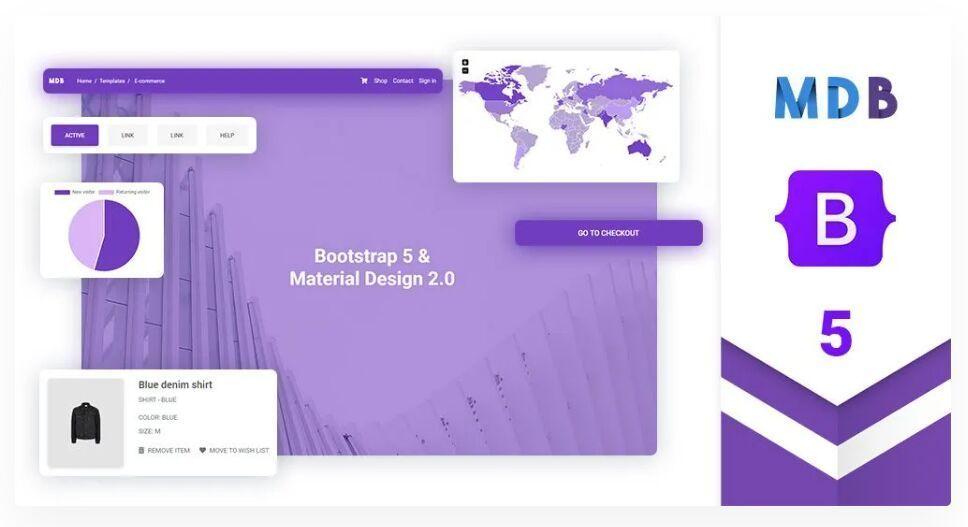 Bootstrap 5 & Material Design 2.0 UI KIT