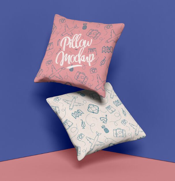 Brand Square Pillow Mockup Design PSD
