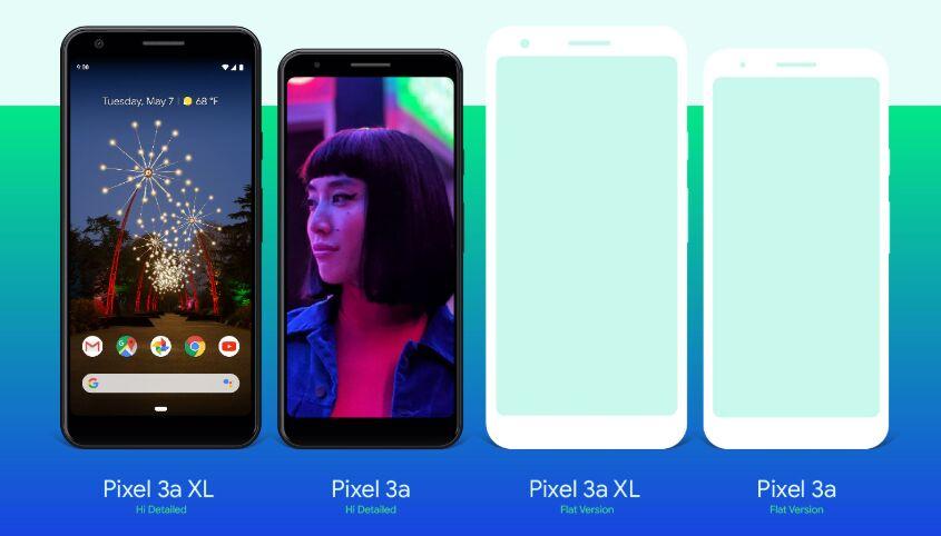 Free Google Pixel 3a & Pixel 3a XL Mockup