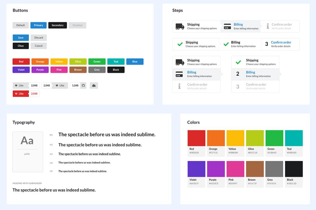 25+ Most Popular Web UI Kits For Free Download (2019 Update