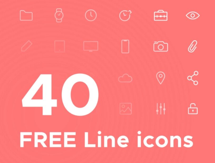40 line icons pack