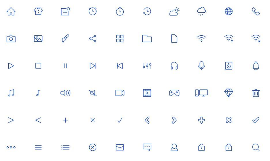 Editable icons set Vector