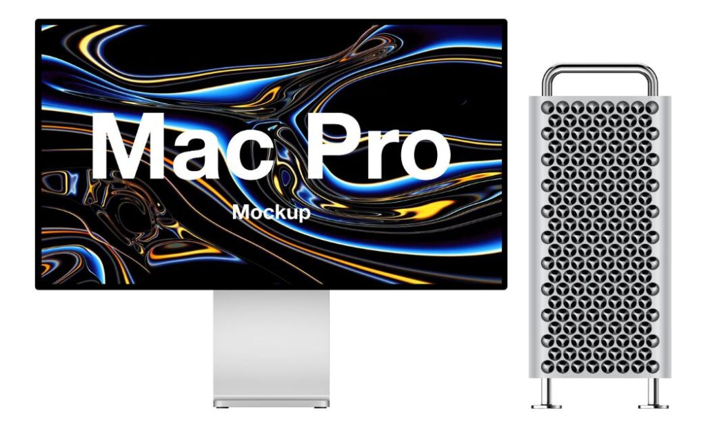 Mac Pro (2019) mockups for Sketch, Figma and Photoshop