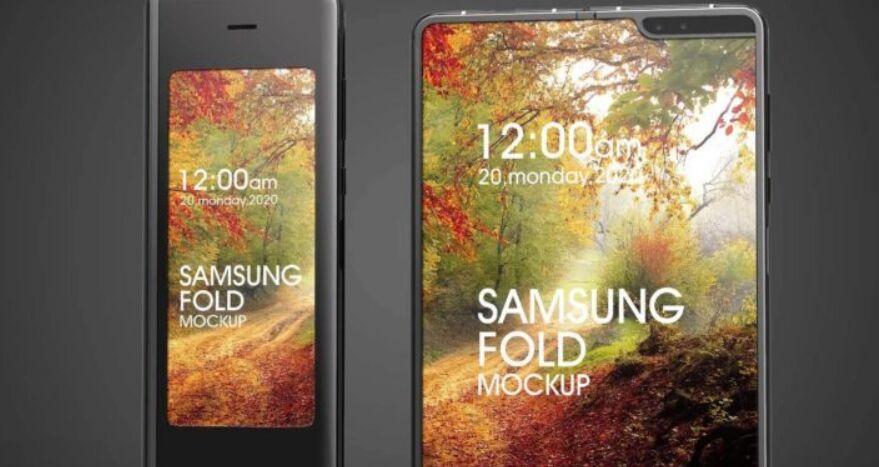Free Samsung galaxy fold mockup