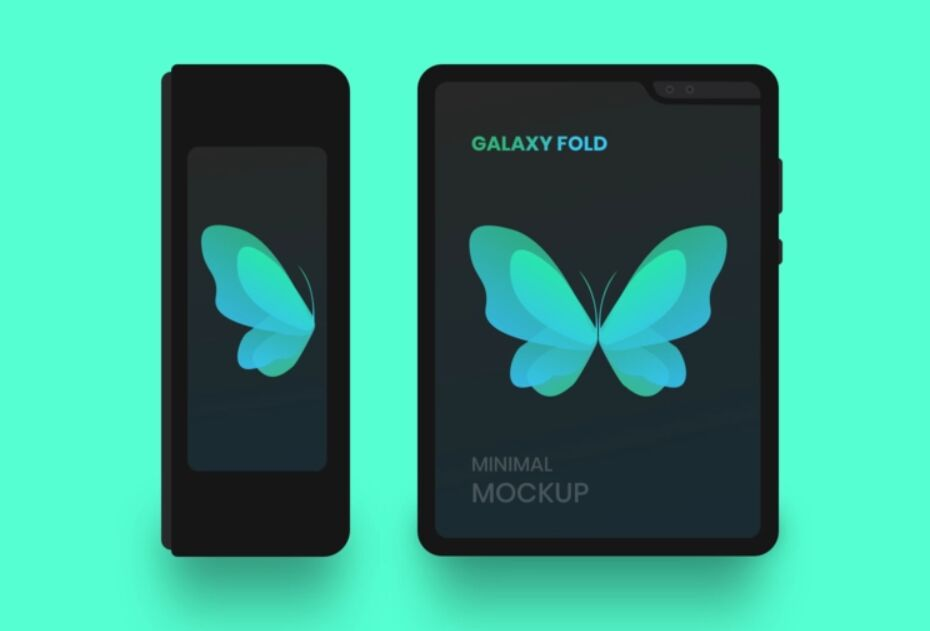 Galaxy Fold Minimal Mockup For Sketch