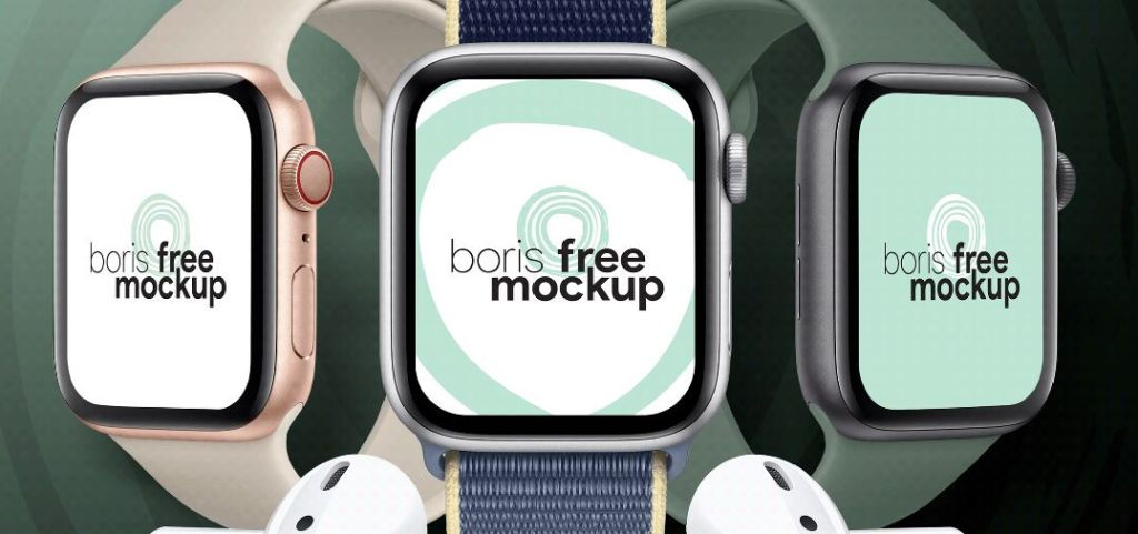 Free PSD Apple Watch Series 5 mockup