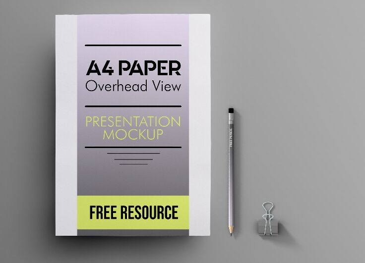 Free Letterhead A4 PAPER PSD Mockup