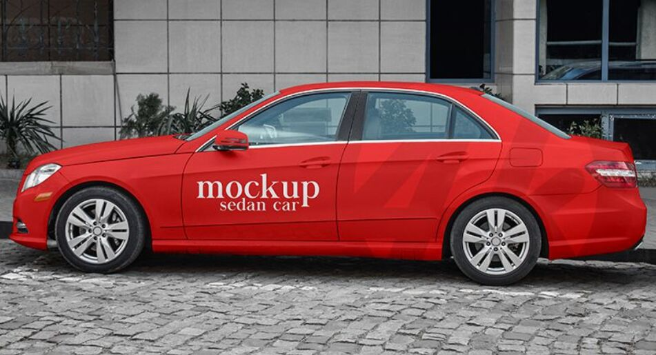 Free Sedan Car PSD MockUp