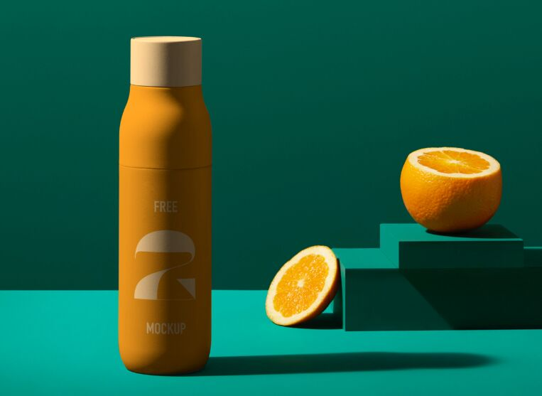 Juice Bottle PSD Mockup