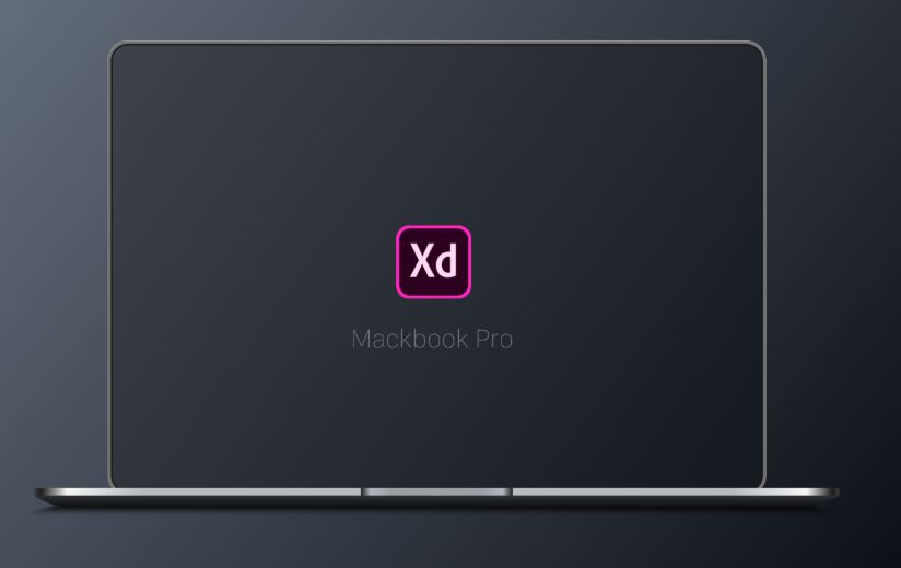 Tiny Flat Macbook Pro Mockup For Adobe XD