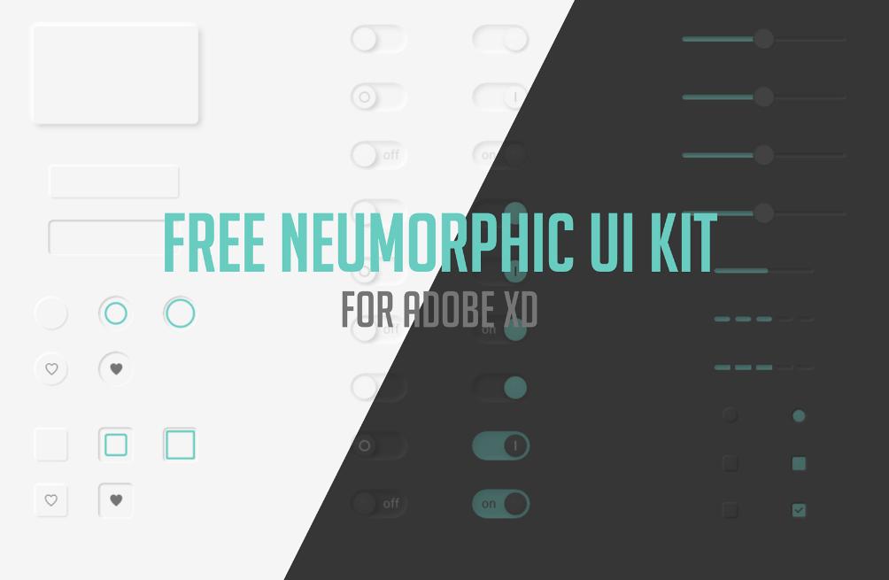 Free Neumorphic UI kit Adobe XD