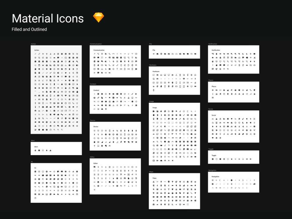 Material Icons For Sketch