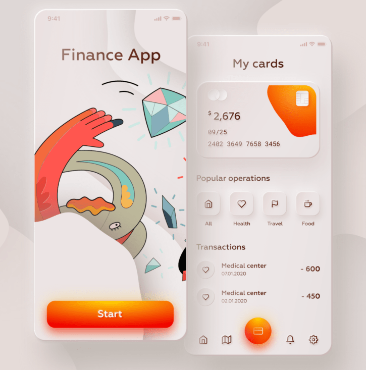 Neumorphic Finance App Design UI