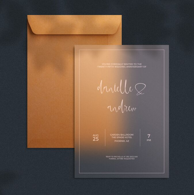 Paper Invitation Card Mockup