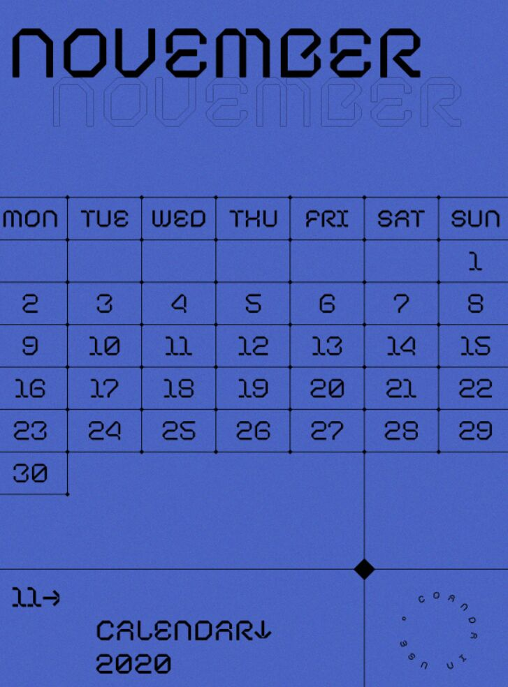 Pretty PDF Calendar 2020