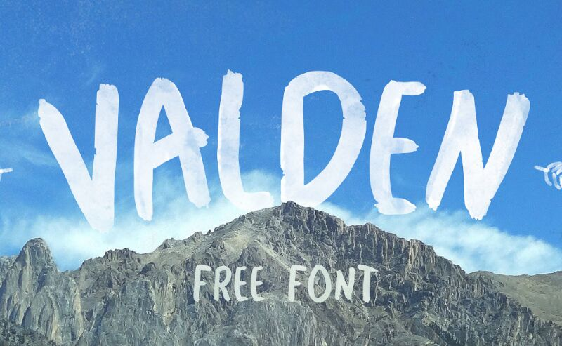 Valden Brush Font