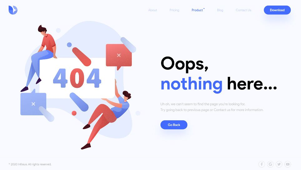404 Error Page Illustration Template