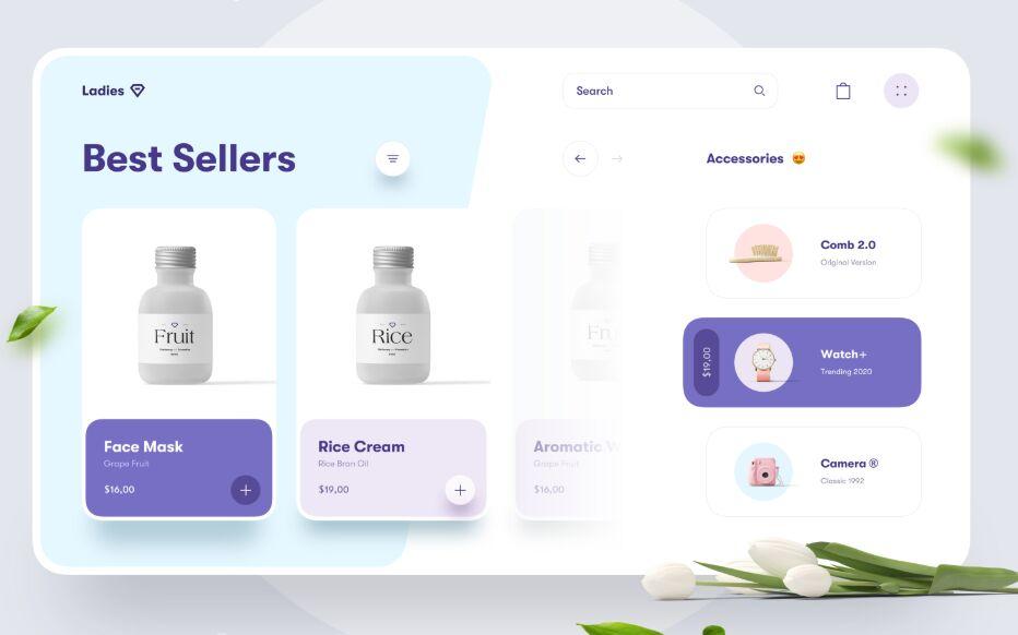 Beauty Store Website Concept