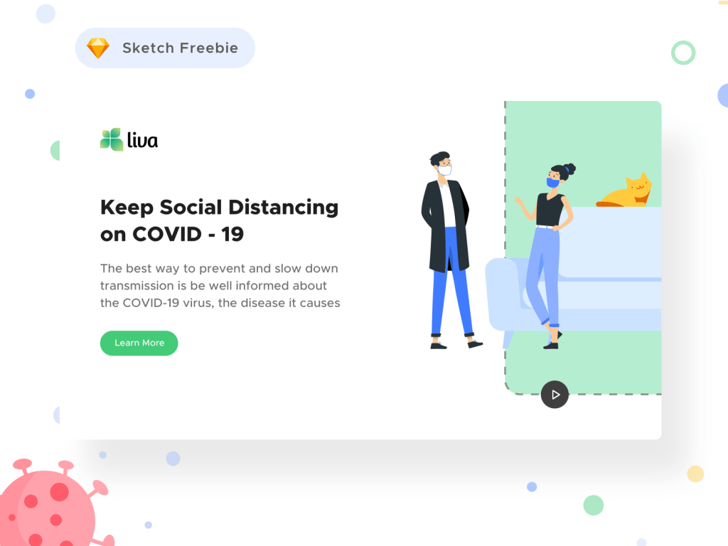 Coronavirus Social Awareness Landing Page