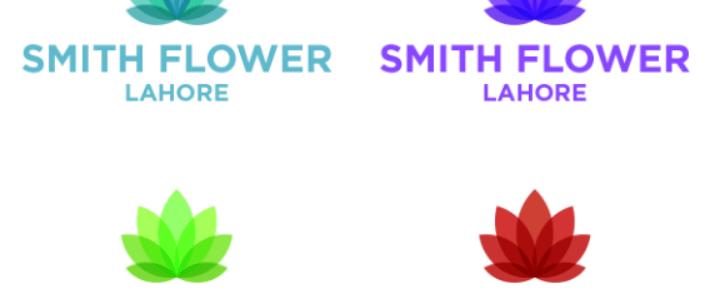 Creative Flower Logo Template For Adobe Illustrator