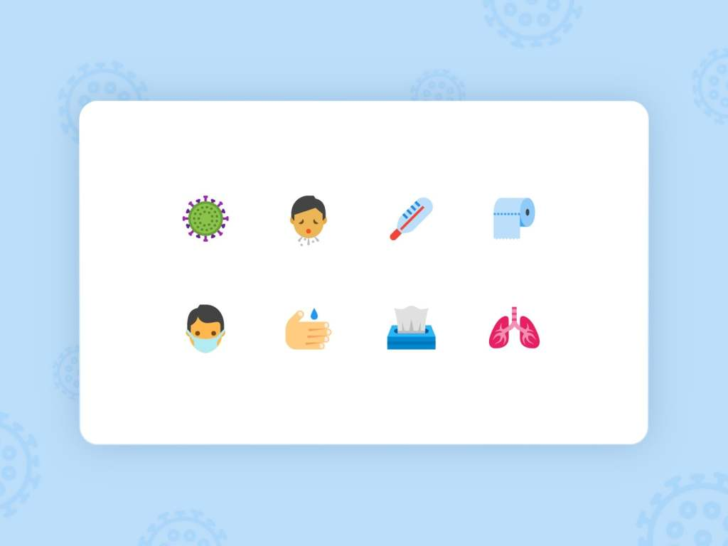 Free SVG Icons on Coronavirus in Different Styles