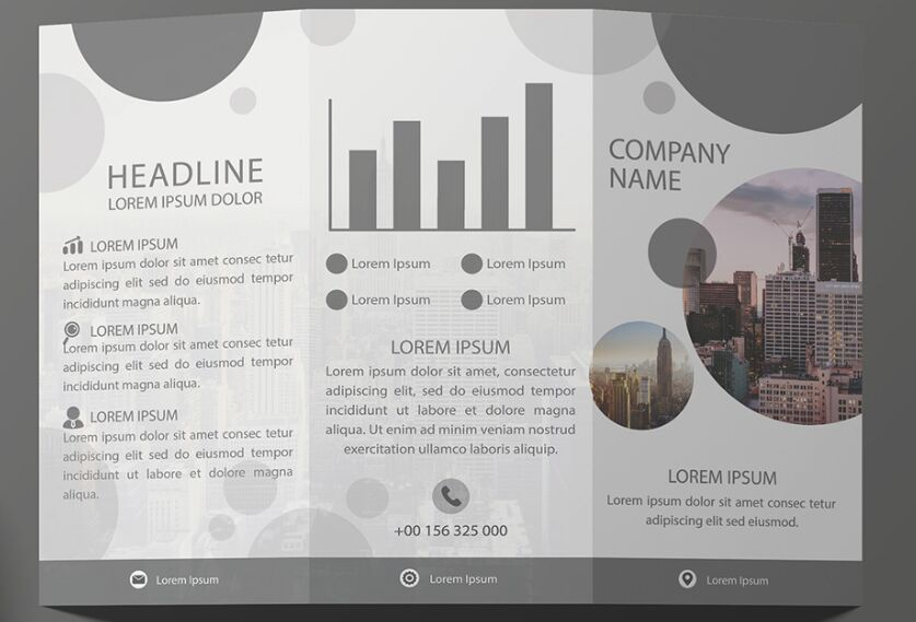 Free Tri-Fold Brochure Template Vector