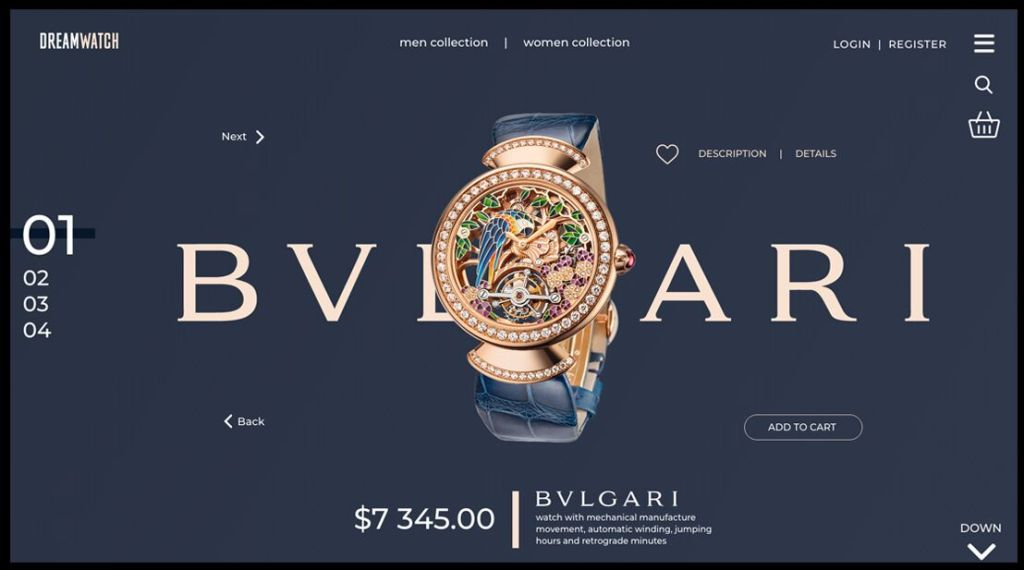 Luxury Watch Landing Page Template