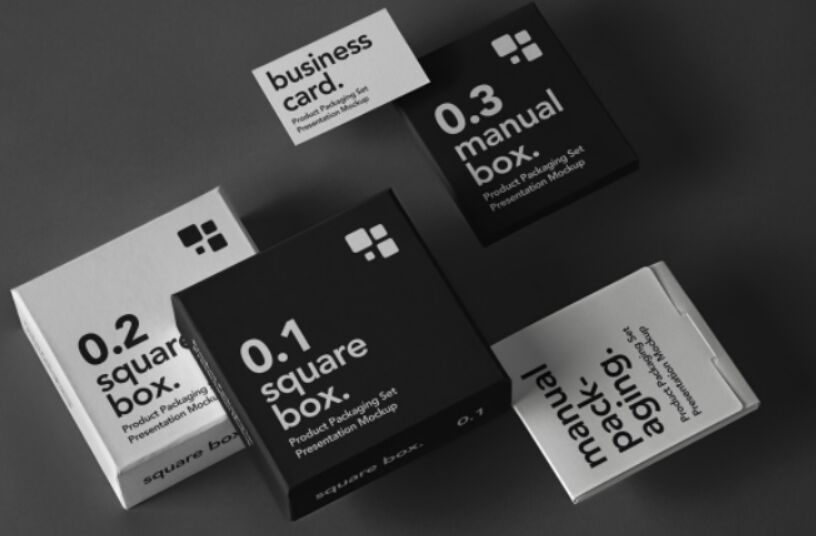 Product Packaging Mockup Set PSD