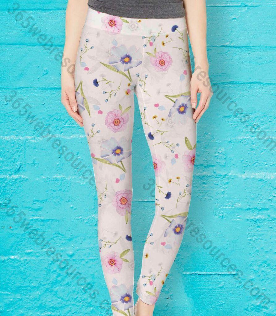 Realistic Women's Legging & Yoga Pants PSD Mockup