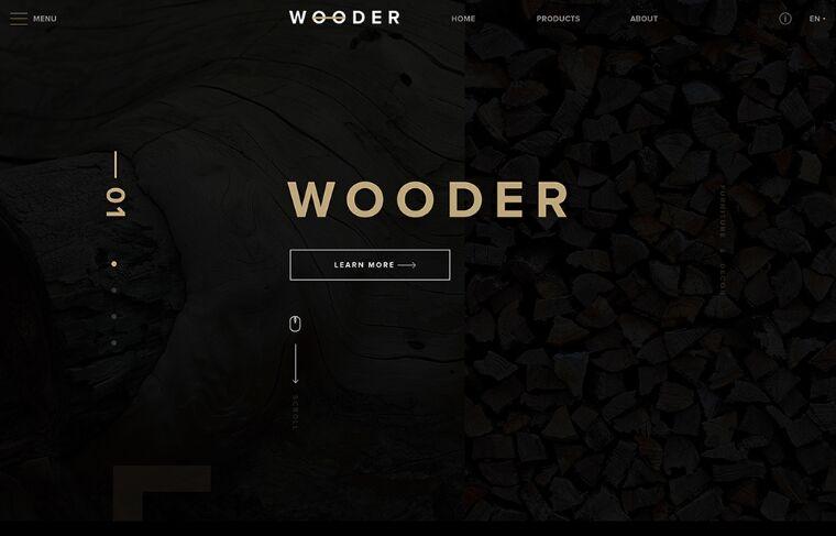 WOODER Web Template PSD