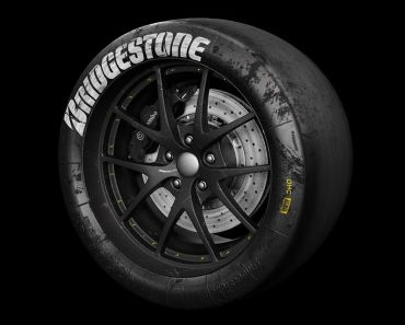 3D Bridgestone Racing Tire Model