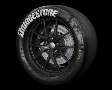 3D Bridgestone Racing Tire Model