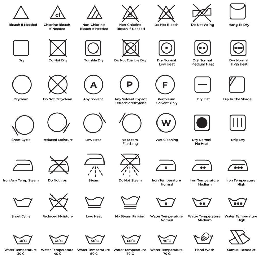 49 Laundry Guide Outline Icons Preview