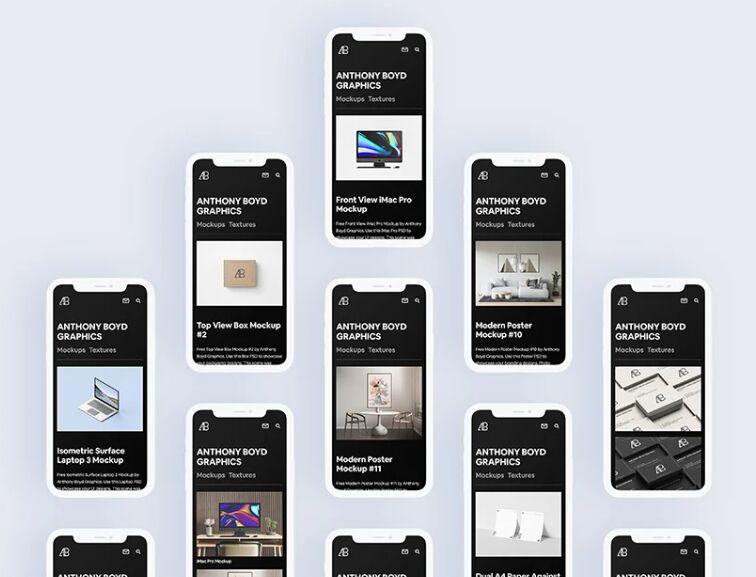 Flat iPhone 11 Pro Max Mockup