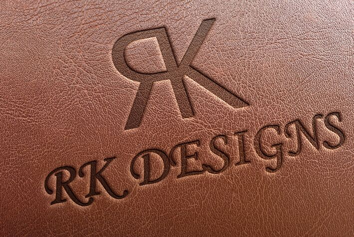 Leather Texture Logo Mockup